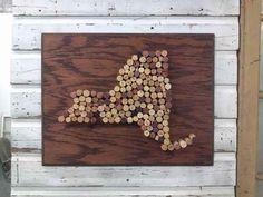 Make a state-shaped cork board.