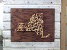 Make a state-shaped cork board.