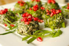 Spinach Pkhali | Spinach and walnut dip with pomegranate | #delicious #nutritious | One of my favorite #Georgian dishes!