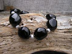 Black Onyx Bracelet, Onyx Jewelry, Gemstone Bracelet