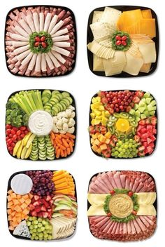 food platters / food + food recipes + food videos + food photography + food and drink + food recipes for dinner + food aesthetic + food platters Party Food Platters, Food Buffet, Food Trays, Meat Trays, Party Trays, Party Buffet, Meat And Cheese Tray, Cheese Platters, Meat Platter