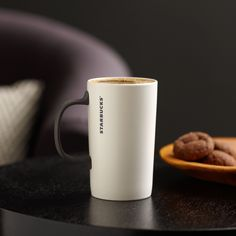 Starbucks® Slender Mug, 12 fl oz A ceramic coffee mug with a matte gray handle and simple, modern style. $8.95 http://websites-buy.com/starbucks-coffee-store