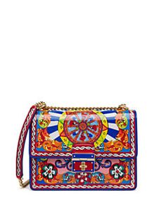 Dolce & Gabbana - Multicolor Patent Leather Shoulder Bag