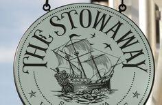 The Stowaway Restaurant Sign in Seabrook, WA / Danthonia