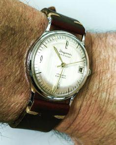 Custom Horween Chromexcel Leather minimal stitch Watch Strap for Vintage Dugena watch from 922Leather.com under construction  Something for everyone from 922Leather.com #watch #watchporn #watches #wristporn #watchoftheday #watchesofinstagram #horology #luxury #rolex #dailywatch #wristshot #instawatch #fashion #timepiece #watchfam #watchaddict #watchnerd #style #watchgeek #womw #watchcollector #panerai #mensfashion #mondani #watchmania #omega #bracelet #rolexwatch #audemarspiguet #womw