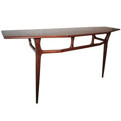 Giuseppe Scapinelli; Brazilian Rosewood wall-mounted Console Table, 1960s.