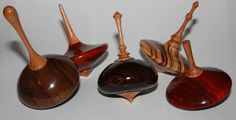 wood spinning tops by U140