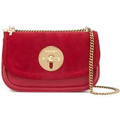 See By Chloé Lois shoulder bag ($331) ❤ liked on Polyvore featuring bags, handbags, shoulder bags, red, see by chloe purse, shoulder handbags, locking purse, red handbags and see by chloé