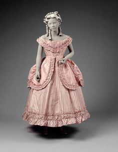 Girl's Party Dress   c. 1870
