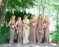Gone are the days of matching bridesmaid dresses for every wedding. Mismatched bridesmaid dress styles are all the rage and a great way to flatter every bridemaid's silhouette in your bridal party. Here's an easy guide to finding the best dress styles for every body type!