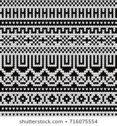 Knitted seamless pattern with fair isle elements Sweater Knitting Patterns, Knitting Stitches, Knitting Socks, Fair Isle Chart, Fair Isle Pattern, Fair Isle Knitting, Knit Mittens, Stock Foto, Stitch Patterns