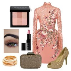 """""""Pink"""" by chicastic ❤ liked on Polyvore featuring Georges Hobeika, Bobbi Brown Cosmetics and Kenneth Jay Lane"""