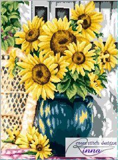 Sunflowers of Summer - Cross stitch Pattern