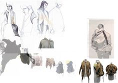 Fashion Sketchbook - fashion design sketches & jacket development; fashion portfolio // Morgane Press