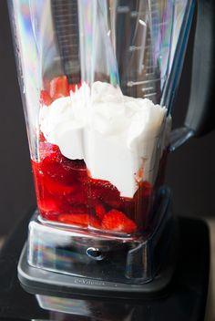 strawberry frozen yogurt recipe | use real butter