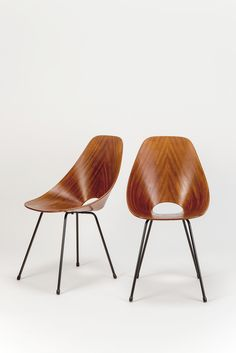 Paar Medea Stühle Vittorio Nobili
