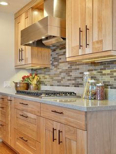 Contemporary Kitchen Birch Cabinet Design, Pictures, Remodel, Decor and Ideas