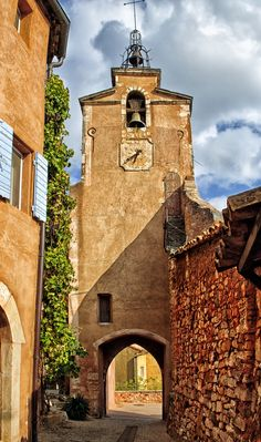 Clock tower, Roussillon, France