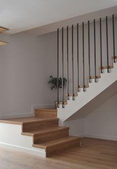 Escaleras molinico - New Ideas Home Stairs Design, Railing Design, Home Design Plans, House Design, Dream House Interior, Interior Stairs, Home Interior Design, House Staircase, Staircase Railings