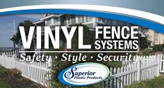 Superior's Vinyl Classic Picket Fence is the neighbor-friendly solution for your yard. www.SuperiorPlasticProducts.com Vinyl Picket Fence, The Neighbor, Yard, Classic, Derby, Patio, Classic Books, Courtyards, Garden