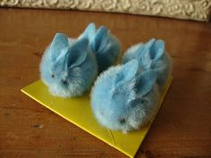 Pom pom bunnies chenille pom poms blue easter kids craft