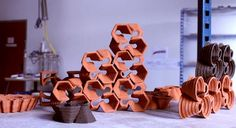 3d printed ceramics by ELstudio  #Rhino #Grasshopper #Architecture