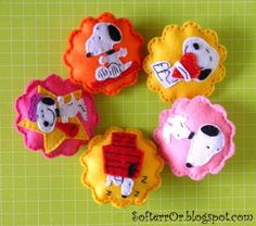 felt snoopy ornaments