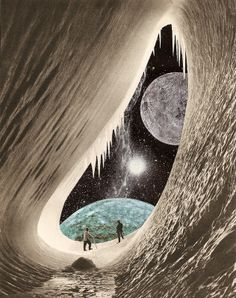 Space Collage discovered by redemir on We Heart It Collages, Surrealist Collage, Sci Fi Art, Surreal Art, Digital Collage, Photo Manipulation, Trippy, Wall Collage, Fantasy Art