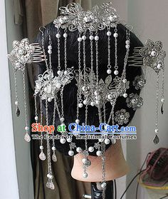 Chinese Ancient Empress Princess Hair Accessories Headdress Hairpin Headwear Jewelry for Women Girls