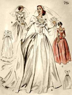 vintage wedding gown pattern