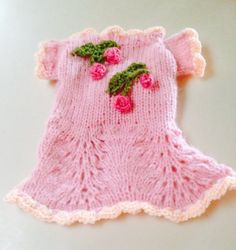 Small Pink Sweater Dog Dress Chihuahua Hand Knit Yorkie Small