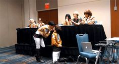 ereri gif | Tumblr<<<I think that's Hanji in the background, I can't really see, BUT THEIR REACTION