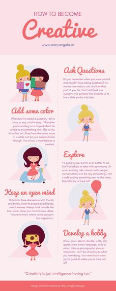 How To Become Creative (INFOGRAPHIC)