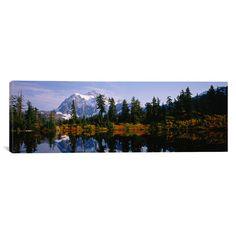 Found it at Wayfair - Panoramic Mt Rainier National Park, Washington State Photographic Print on Canvas