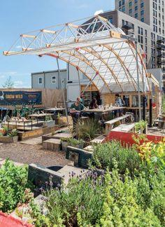Jardim urbano em Londres oferece prática a jovens arquitetos e ecologia à comunidade :: aU - Arquitetura e Urbanismo