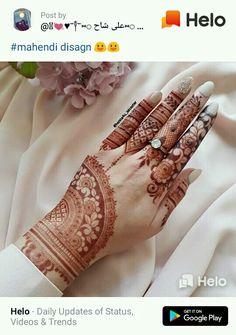 Indian Henna Designs, Floral Henna Designs, Back Hand Mehndi Designs, Stylish Mehndi Designs, Mehndi Designs 2018, Modern Mehndi Designs, Mehndi Designs For Girls, Henna Art Designs, Mehndi Designs For Beginners
