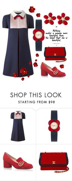 """Classic Simplicity"" by felicia-mcdonnell ❤ liked on Polyvore featuring Valentino, Orla Kiely, Gucci and Chanel"