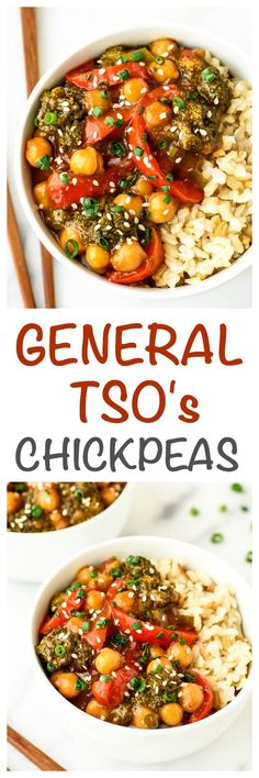 General Tso's Chickpeas — A healthy, EASY vegan twist on everyone's favorite take out recipe. Vegetarian and gluten-free! www.wellplated.com
