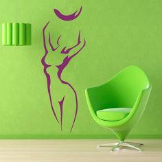 Wall Decals Sport Girl Fitness Ball Gym Vinyl Sticker Murals Wall Decor KG164