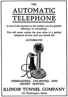 1910 Ad: The Automatic Telephone