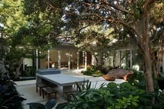 Landscape architecture by Raymond Jungles for a Miami house (featured in the Wall Street Journal)