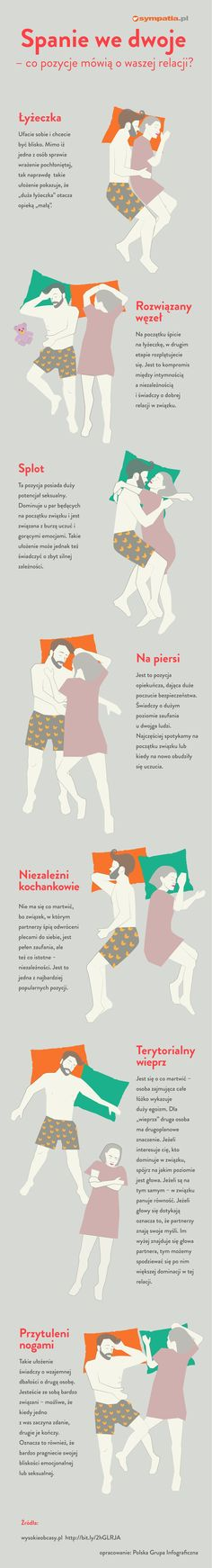 Spanie we dwoje - co pozycje, w jakich śpicie, mówi o waszej relacji? Infografika Life Hackers, Acv, Good To Know, Couple Goals, Love Story, Back To School, Fun Facts, Psychology, Relationship