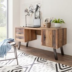 Bürotische von Fashion For Home Online Shop Bedroom Storage, Decoration, Office Desk, Corner Desk, Entryway Tables, Cabinet, Interior Design, Wall, Furniture