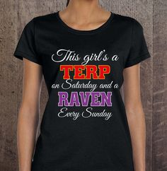 Maryland Terp and Ravens fan tshirt baltimore ravens maryland terps by JTJAPPARELFASHIONS on Etsy