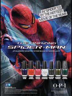 OPI Spiderman Collection Cosmetic Advertising