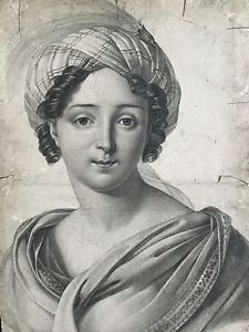 Gravure Ancienne 1e Empire Ecole Ingres Femme Au Turban Antique French Etching | eBay