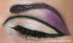 60´s cut crease, purple shade and glitter brows :) www.deliriumish.com