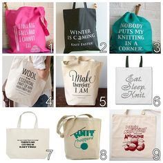 Tote your favourite knitting quote!