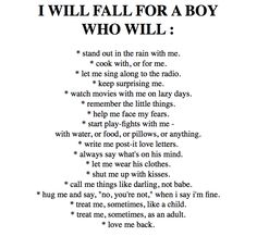 I want this boy