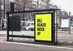 Free Bus Stop Billboard Mockup (PSD) Out Of Home Advertising, Advertising Design, Bilboard Design, Cover Design, Billboard Mockup, Galvanized Sheet, Bus Shelters, Phone Wallpaper Images, Guerilla Marketing